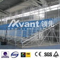 Scaffod metal bleacher dismountable for different races