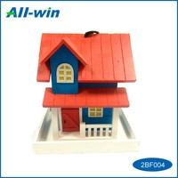 Home & Garden use Pet product vivid mini house shape FSC Wooden bird feeder