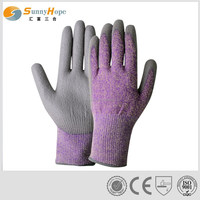 13gauge palm PU cut resistant working gloves
