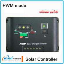 CE ROHS intelligent controller 6A 12v 24v pwm solar control charger
