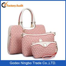 3 in 1 custom woman tote bag lady handbag/ Urban fashion trendy female handbag totebag shoulder bag