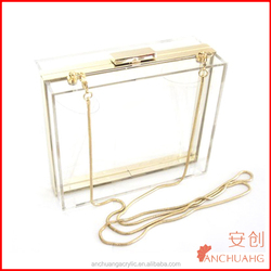 Acrylic Fashionable Transparent Evening Clutches/Shoulder Bags/Handbag for Women Ladies Gift