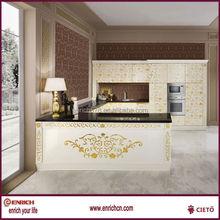 American Country Side Kitchen Cabinet PVC embossment Door Panel Novel Design
