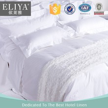 ELIYA White knitted cotton fabric bedsheets wholesale for hotel bedsheet