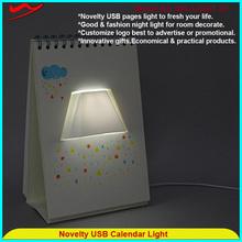 Page book light Innovative stylish wholesale custom calendar printing 2016
