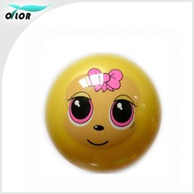 Yellow Inflatable beach plastic toy ball