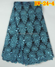 Latest African design charming net lace for making dress BW-24-4