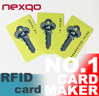 13.56MHz HF RFID Card for Time Attendence, electronic hotel key card system