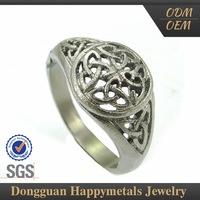 Fashion Designs Stainless Steel Rose Quartz Wedding Rings