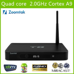 Hot Quad Core Android 4.4 T8 Smart Tv Box Amlogic S802 2.0GHz XBMC T8 Quad Core Google Android 4.4 tv box