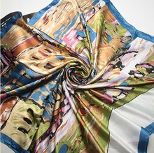 polyester fashion square scarf women