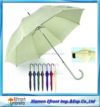 23 X8K,Dot Silk-screen Print Straight Dome Automatic Lady umbrella