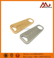custom design shiny color metal zipper pulls for leather bags