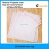 Wholesale High quality white color 4pcs per set blank zipper style folding mesh washing bag, laundry washing bag