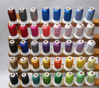 Hot Selling 40 Brother Colors Polyester Embroidery Thread 120D/2 1000M/Spool