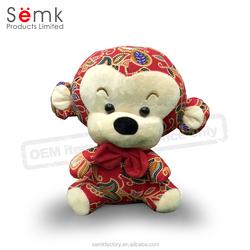 OEM plush toys custom made stuffed plush monkey hot sale in 2016