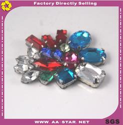 Bling bling multi colored rhinestone transfer hotfix motif for garment accessories