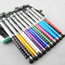 3 section scalable Touch screen stylus pen rhinestone stylus pen for iphone ipad tablet samsung smart phone