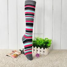 New design fashion women sports stocking/thigh highs/socks with stripe pattern