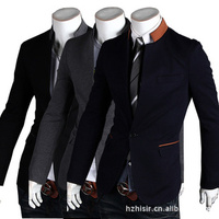 2013 new spring buckle collar features a casual men's suit jacket 9010