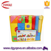 colourful Building EVA Foam Block with printing and Variouse Shapes for kids Foam Toys