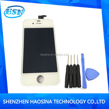 Wholesale lcd screen with Touch Digitizer assembly+ tools for iphone 4 4g ,100% test before shipping