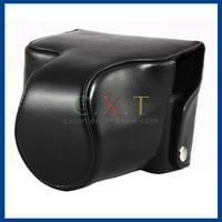 Leather Protective Bag / Case for Canon SX50/Panasonic FZ200/Leica V-LUX3 Cameras (Black)