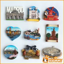 Varies Resin City Resin Tourist Souvenir Fridge Magnet