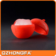 Apple shape design silicone ice cube tray with lid