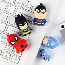 Gift cartoon superman usb flash drive,mixed model,memory stick thumb drive pen memory pendrive