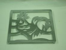 Gallo con dibujos mesa cuadrada de Metal Pan caliente Coaster