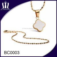 Women's four leaves clover pendant necklace