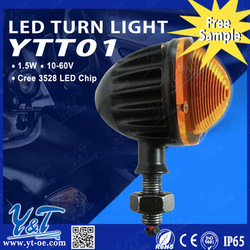 CE FCC ROHS high heat dissipationled round turn light 1.5w work lamp Light 1.5w ledlight for off road 4x4 mini tractor