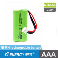 Low Discharge Rate 2.4V Ni-MH Rechargeable Battery AAA 600mAh