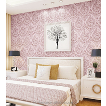 Damask soundproof decorative textured deep embossed wallpaper/wall paper (0.53*10m)