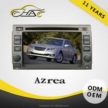 China factory car dvd player fm radio USB/SD for hyundai azera gps navigation system