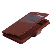 Wholesale cell phone pu+tpu leather case for huawei P6 with various of color
