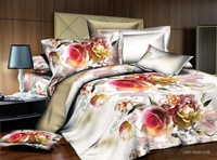 Romantic Rose design hot sale 3d floral bedding set made in China