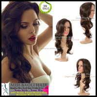 Crazy Hot Sale 2015 Temple Indian Remy Human Hair Tangle Free Soft Smooth Glossy Cheap Long Curly Hair Wig