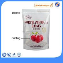 custom graphic printing apricot ziplock bag from China