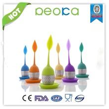 Colorful infusion tea bag/leaf shaped silicone tea infuser/tea infuser silicone