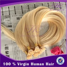New Product For 2015 Best Quality Double Drawn Human Hair Extensions White Blonde Hair