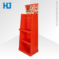 Cardboard Floor Displays Cardboard Display Stand With Shelf, Customized Free Standing Cardboard Displays