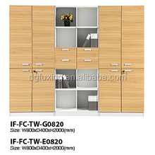 Combination lock filing cabinet, wooden office filing cabinet