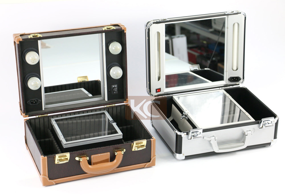 New Design Wholesale Aluminum Small Lighted Beauty Box