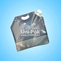reusable clear plastic oil can with spout