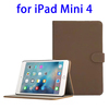 High quality Retro Design leather case for ipad mini 4 cover