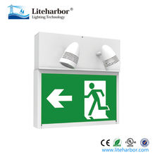 UL Running Man Exit Sign 2 Lamps * 3W Fire LED Emergency Charging Light