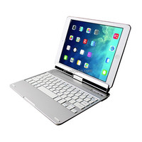 bluetooth keyboard with touchpad for ipad/iphone 360 degree rotating