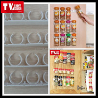 new clip n store as seen on tv 4 strips * 5 clips kitchen cabinet spice rack organizer peel stick & clip for space saving